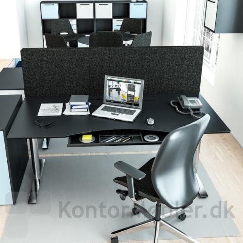 Delta hævesænkebord i sort