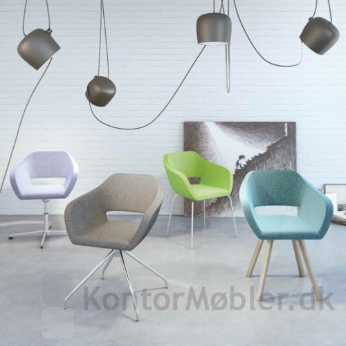 Belen mødestol kan vælges med flere forskellige stel