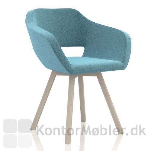 Belen mødestol, får et nyt look med træben
