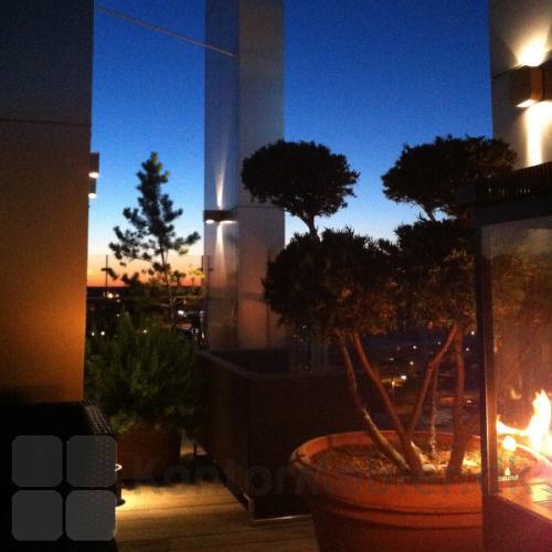 Sunwood terrasse varmer giver sydlandsk stemning