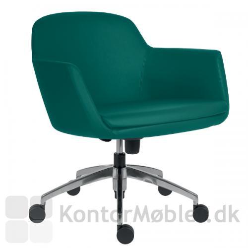 Fire alu mødestol med 5 hjul kan vælges med flere forskellige typer polstring