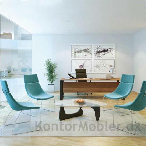 Soft lounge stolen set på et kontor