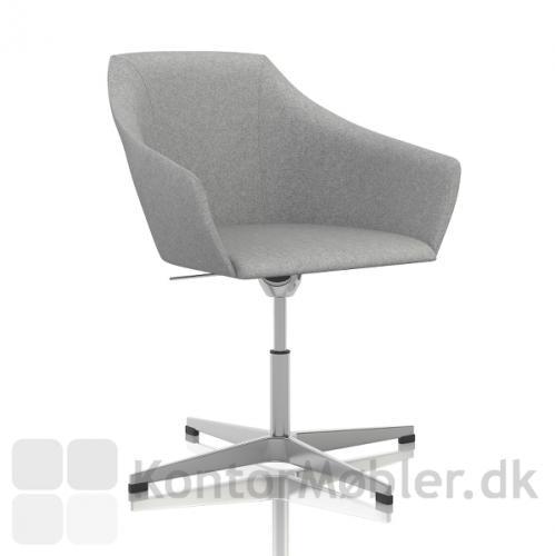 Wind Cross mødestol med højdejustering fra 35 til 47 cm