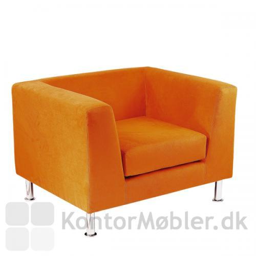 Notre dame stol i orange stof