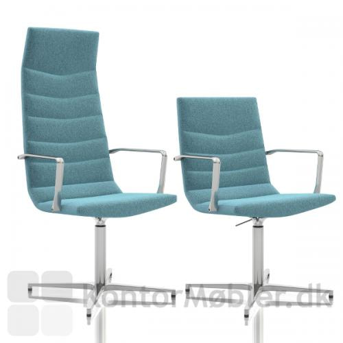 Shiny Basic mødestol kan vælges med to forskellige ryg højder
