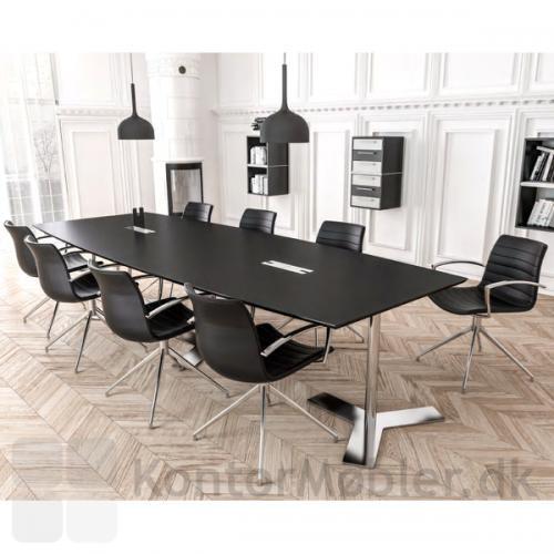 Frej mødestol med drejbar stel