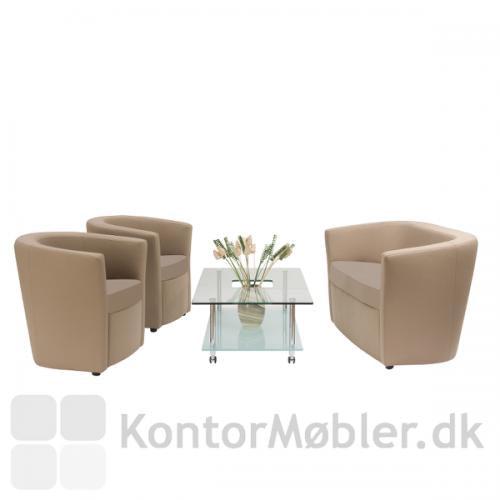 Montmartre sofa set sammen med 2 stole