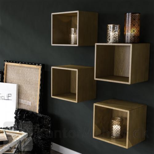 Bogkasser kan bruges til mange stilarter, her er valgt eg finér - til hyggelig stemning