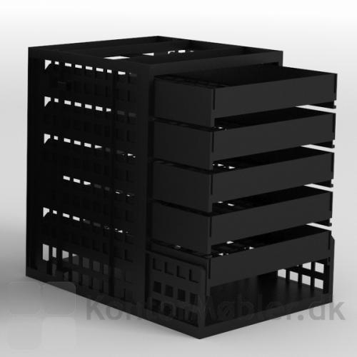 Kassette med 6 rum fra Delta 2.0 serien, set fra siden