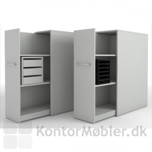 Kassette med 6 rum, kan feks placeres i udtræksskabe