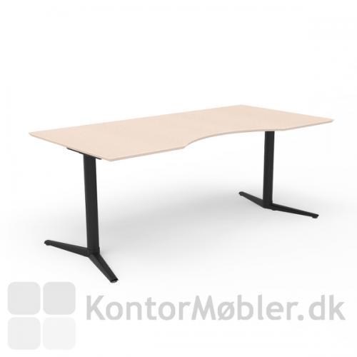 Switch hæve sænke bord med sort stel