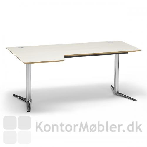 Switch bord med alu stel og krom fødder