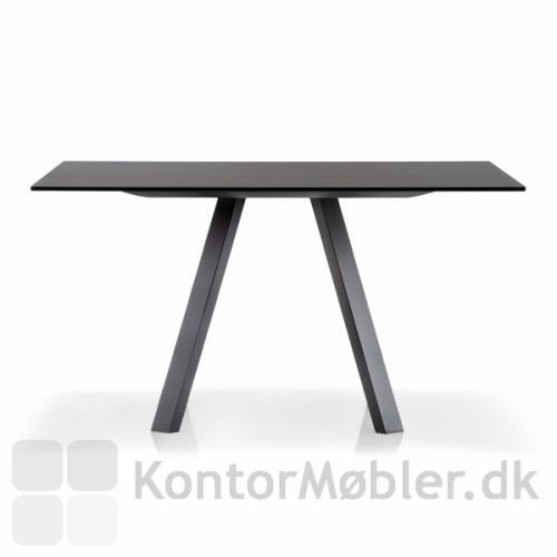 Arki bord med sort bordplade og sort stel