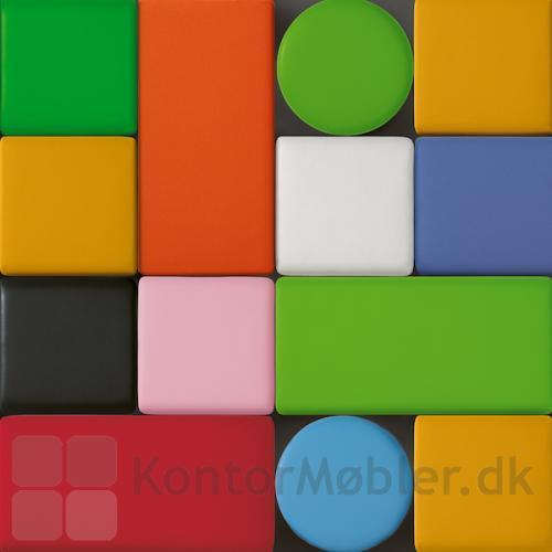 Puf fra Lanab kan vælges kvadratisk, rektangulær eller rund - i mange farver