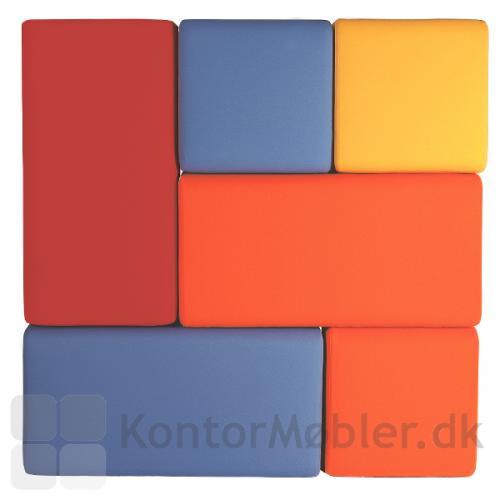 Puffen kan kombineres i forskellige størrelser - vælg farver der matcher indretningen