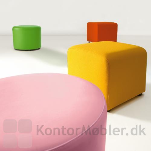 Miks den store runde puf med de andre modeller - vælg farve efter ønske