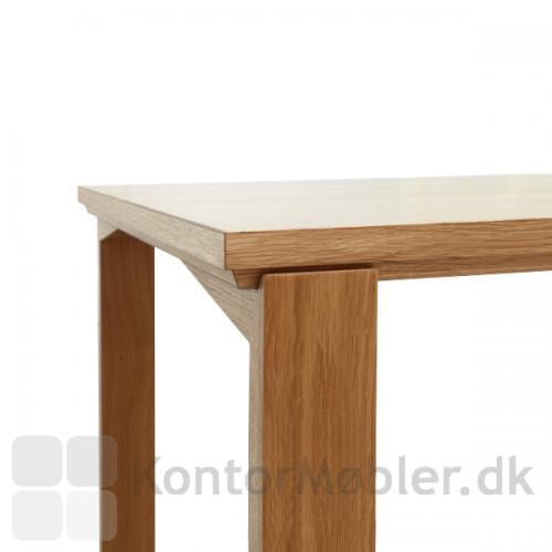 Session mødebordets bordbene kan placeres tæt ved bordkanterne
