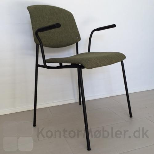 Pause mødestol med fremadvendt armlæn
