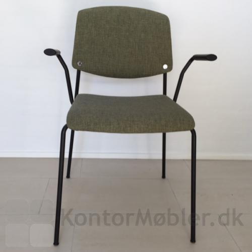 Pause mødestol med fremadvendte armlæn - brug armlænene til stoleophæng