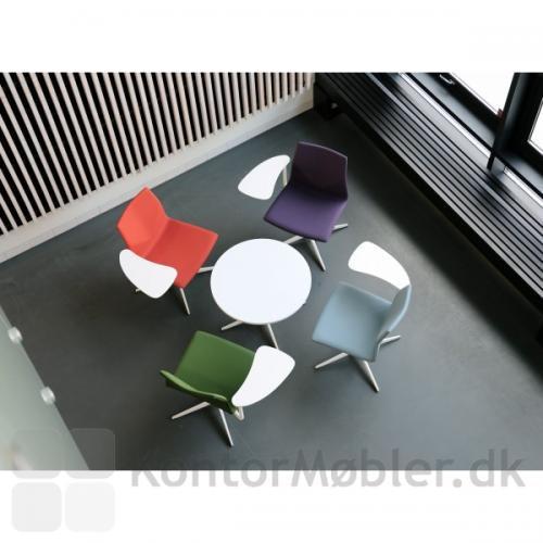 Four Cast Lounge med Inno®Lounge skriveplade, stel og skriveplade i hvid