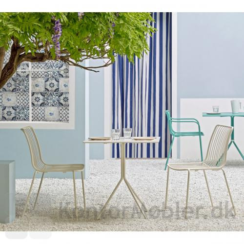 Nolita udendørs stol med høj ryg i hvid