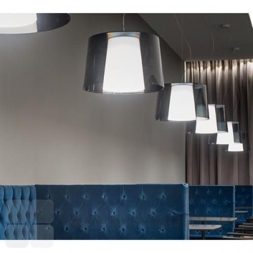 Look loftlampe fra Pedrali med grå skærm
