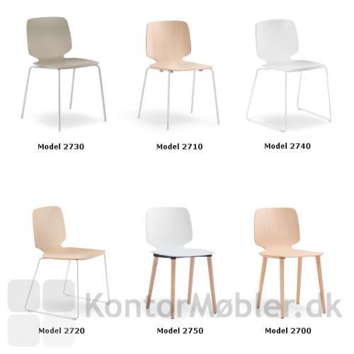 Babila stolen kan vælges i flere varianter. Se modellerne her