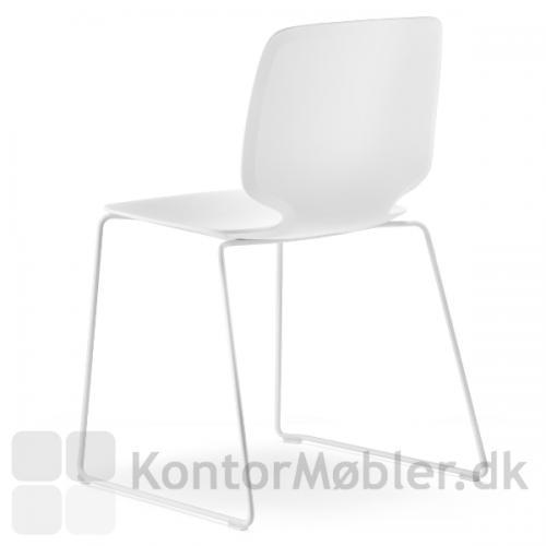 Babila stol med meder i hvid - kan stables med 15 stk