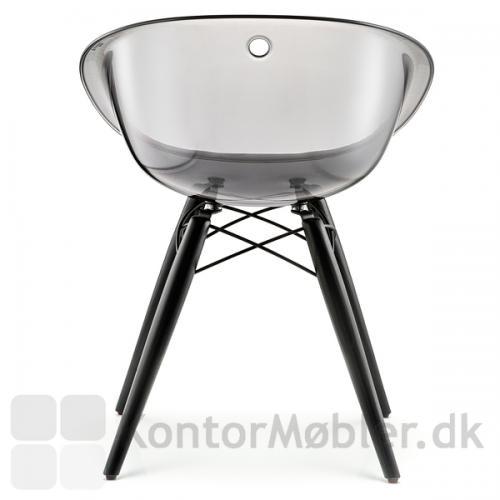 Gliss 905 mødestol med ben i sortbejdset ask