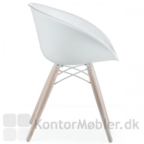 Gliss 904 Wool stol med gennemfarvet hvidt sæde