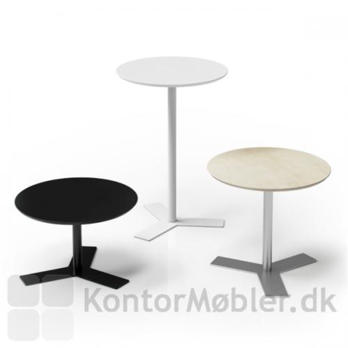 Delta mødebord med rund bordplade, vælg mellem flere varianter
