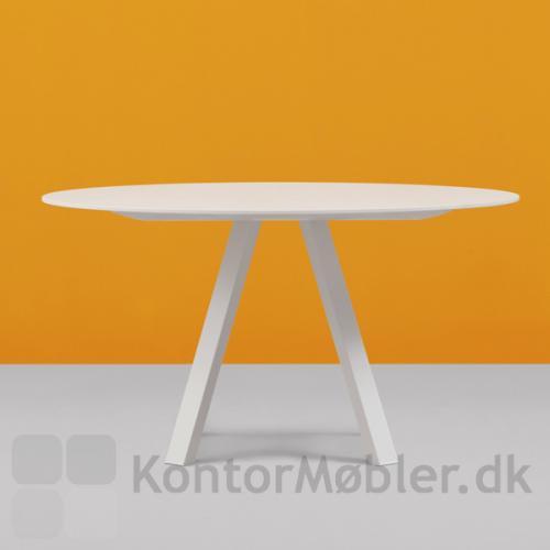 ARK5 mødebord i hvid, kan vælges med flere bordplade i flere størrelser