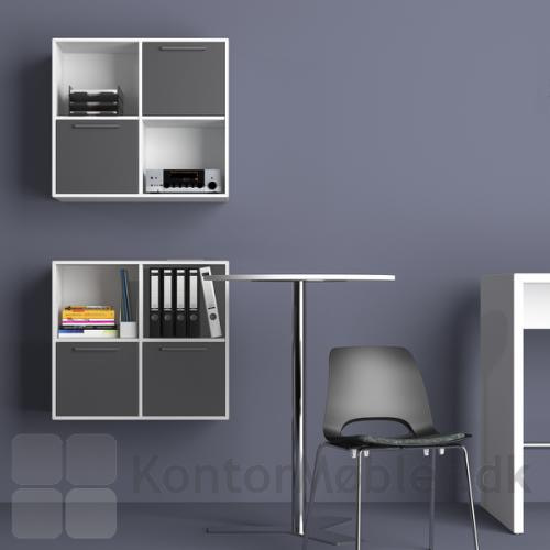 Delta 2.0 bogkasse med 4 rum kan også hænge på væggen