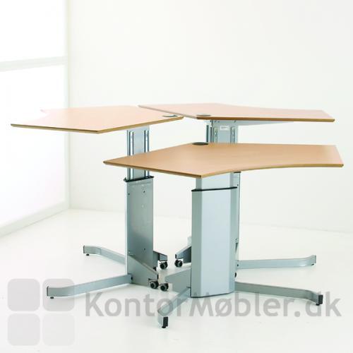 Kontor-Ø med Consets 501-7 hæve sænke bord