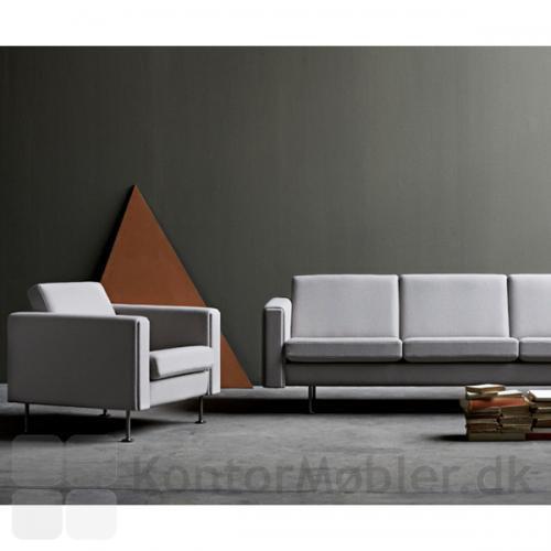 Century 2000 sofa kombineret med stol fra samme serie
