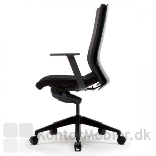 Mono kontorstol med armlæn