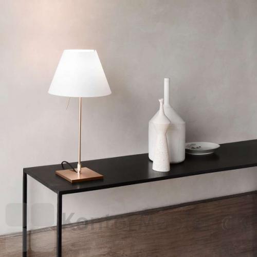 Costanzina bordlampe med messing fod