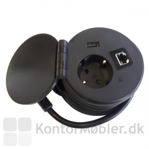 Med Powerbox i sort, kan man oplade mobilen trådløst