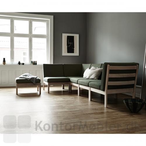 GE 280 modulsofa designet af Hans J. Wegner, giver mange muligheder for individuel indretning