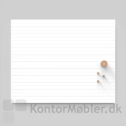 Air Lines whiteboard med kork magneter