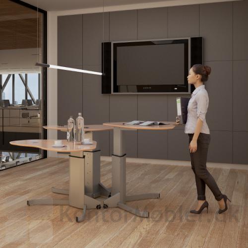 Conset 501-7 hæve sænke bord kan let flyttes efter behov