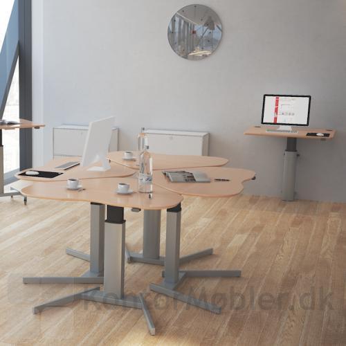 Conset 501-19 basis hæve sænke borde - Opstilling med 4 borde