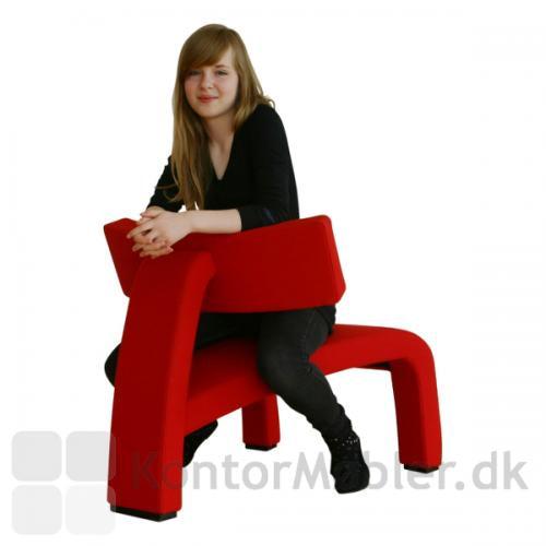 The red devil er en flot grafisk stol
