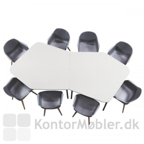 Flake mødebord sammensat af 2 Diamond bordplader