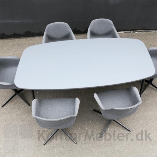 Flake mødebord med Elipse bordplade