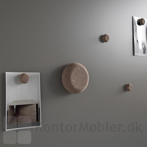 Startersæt med kork magneter indeholder alt til daglig brug af whiteboard eller glastavle