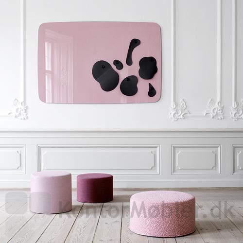 Flow Wall glastavle kan vælges, så farven matcher møblerne
