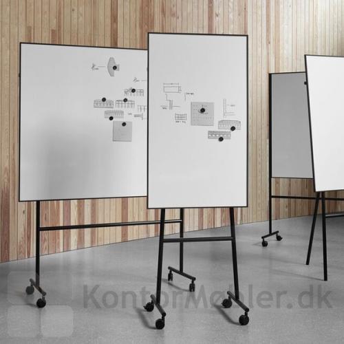 ONE enkeltsidet whiteboard kan kombineres med mindre tavler