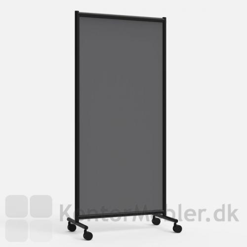One Screen enkel gulvskærm med mørkegrå stof