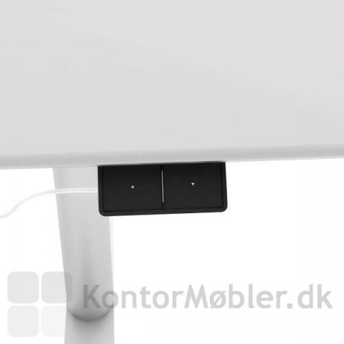 Elegant betjeningspanel til at hæve og sænke bordpladen